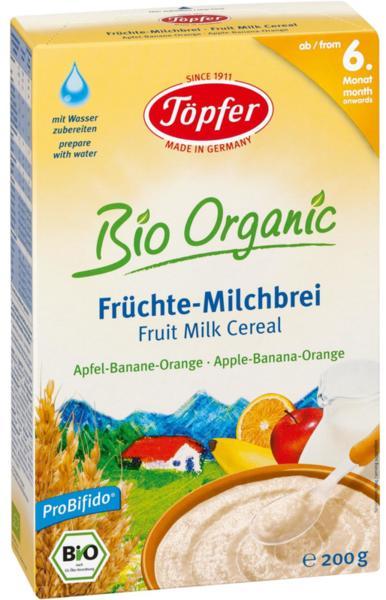Topfer  Бебешка млечна каша с Плодове - ябълка,банан и портокал LACTANA 200гр.
